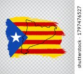 Flag Of  Catalonia From Brush...