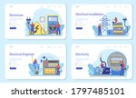 electricity works service web... | Shutterstock .eps vector #1797485101