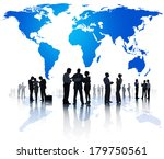 global business meeting with... | Shutterstock . vector #179750561