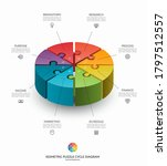 infographic isometric puzzle... | Shutterstock .eps vector #1797512557