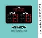 scoreboard sport vector... | Shutterstock .eps vector #179751794