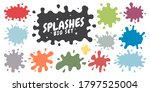 vector set of colored blots on... | Shutterstock .eps vector #1797525004