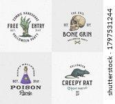 Vintage Style Halloween Logos...