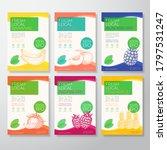 fresh local fruit labels... | Shutterstock .eps vector #1797531247