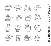 cooking related icons  thin... | Shutterstock .eps vector #1797542197