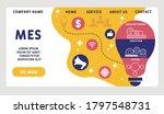 vector website design template .... | Shutterstock .eps vector #1797548731