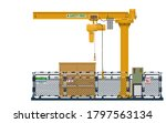 isolated crane area on white...   Shutterstock .eps vector #1797563134