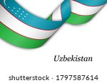 waving ribbon or banner with... | Shutterstock .eps vector #1797587614