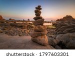 Rocks Totem Inspiring Relax An...