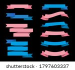 ribbon banner set.vintage... | Shutterstock .eps vector #1797603337