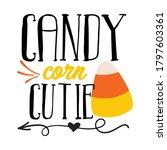 Candy Corn Cutie Vector Design.