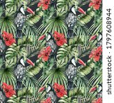 watercolor seamless pattern...   Shutterstock . vector #1797608944