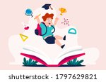back to school kids go to... | Shutterstock .eps vector #1797629821