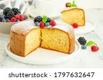 Homemade classic vanilla sponge ...
