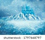 Magic Ice Castle With Snow