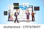 business men  women scheduling... | Shutterstock .eps vector #1797678457
