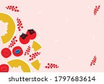 vector fruit frame template in... | Shutterstock .eps vector #1797683614