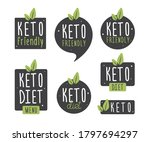 set badge keto diet. vector... | Shutterstock .eps vector #1797694297