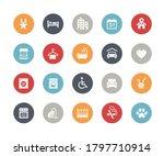 hotel   rentals icons 2 of 2    ... | Shutterstock .eps vector #1797710914
