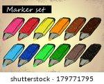 marker set | Shutterstock .eps vector #179771795