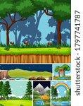 six different scenes in nature... | Shutterstock .eps vector #1797741787