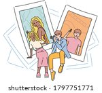 boyfriend is taking a picture... | Shutterstock .eps vector #1797751771