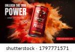 energy drink ad design on... | Shutterstock .eps vector #1797771571