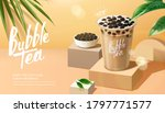 bubble milk tea advertisement... | Shutterstock .eps vector #1797771577