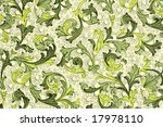 antique wallpaper with floral...   Shutterstock . vector #17978110