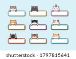 cute baby cat with label name... | Shutterstock .eps vector #1797815641