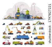 waste processing plant ... | Shutterstock .eps vector #1797827221