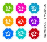 colorful discount labels ... | Shutterstock .eps vector #179782865