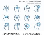 artificial intelligence line... | Shutterstock .eps vector #1797870301