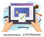 paying bills payment online... | Shutterstock .eps vector #1797904444