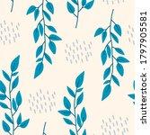 seamless botanical pattern ... | Shutterstock .eps vector #1797905581