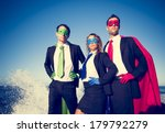 superhero business people at... | Shutterstock . vector #179792279