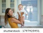 beautiful young brunette woman... | Shutterstock . vector #1797925951