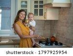 beautiful young brunette woman... | Shutterstock . vector #1797925954