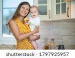 beautiful young brunette woman... | Shutterstock . vector #1797925957