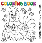 coloring book chicken theme 1   ... | Shutterstock .eps vector #179792885