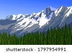 vector illustration of alps... | Shutterstock .eps vector #1797954991