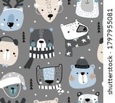 seamless childish pattern with... | Shutterstock .eps vector #1797955081