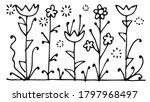 flowers. outline hand drawing.... | Shutterstock .eps vector #1797968497