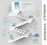 business staircase thinking... | Shutterstock .eps vector #179796959