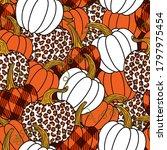 various pumpkins. leopard ... | Shutterstock .eps vector #1797975454