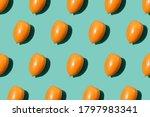 Pattern with sweet orange...
