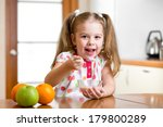 child eating healthy food in... | Shutterstock . vector #179800289