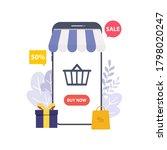 mobile shopping concept for e...