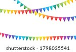 rainbow colors paper bunting... | Shutterstock .eps vector #1798035541