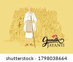 mahatma gandhi for gandhi... | Shutterstock .eps vector #1798038664